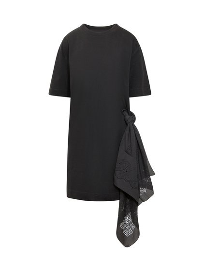 T-shirt Dress with Scarf image