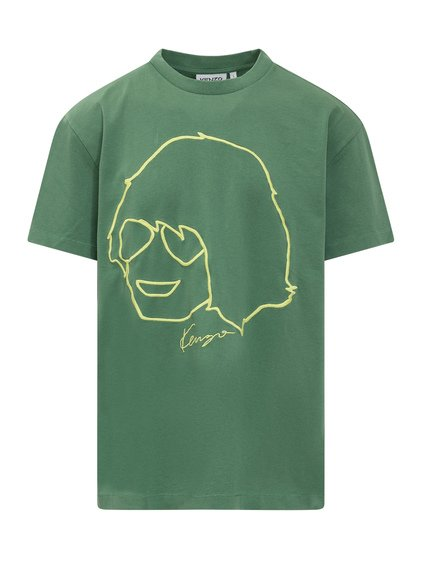 T-shirt with Embroidered Print image