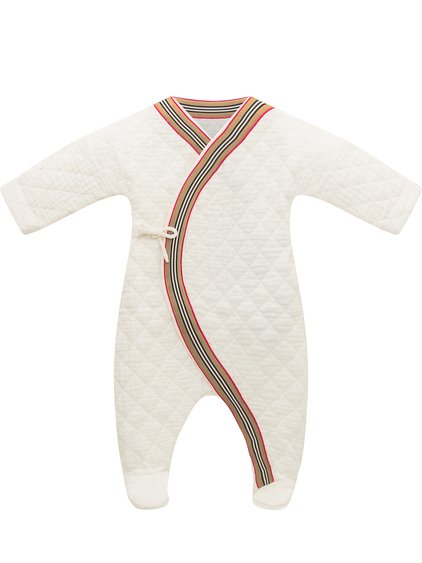 Integral Bodysuit with Striped Pattern image