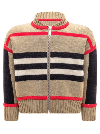 Striped Sweater with Zip image