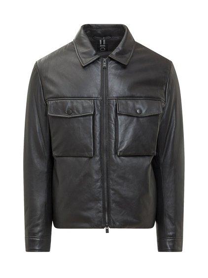 Padded Leather Jacket image