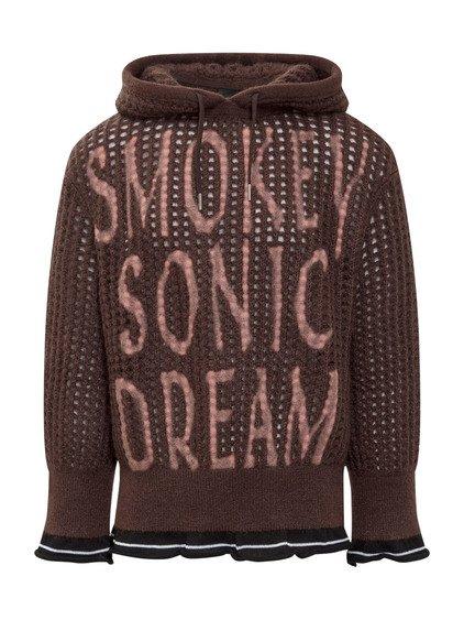 Knitted Hoodie in Wool image