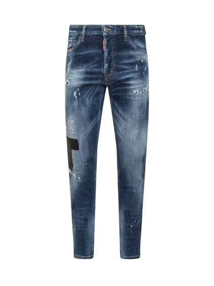Jeans with Eco Leather Patch image